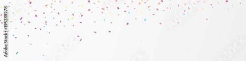 Obraz Colorful confetti banner - fototapety do salonu