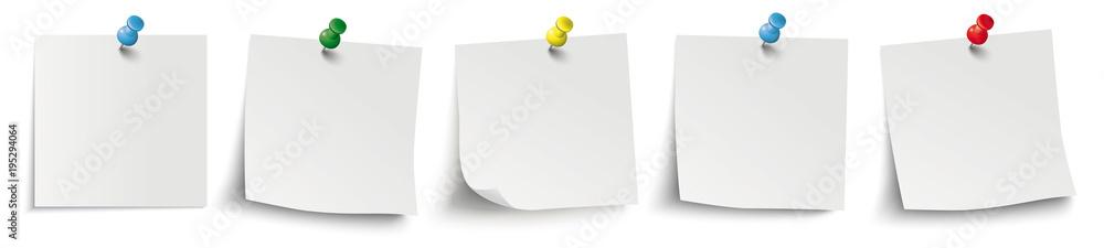 Fototapety, obrazy: 5 White Sticks Colored Pins Header