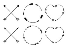 Circle And Heart Arrow Frames ...