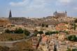 スペイントレドの街を一望する風景 丘の上から見るトレドの街は迫力満点。