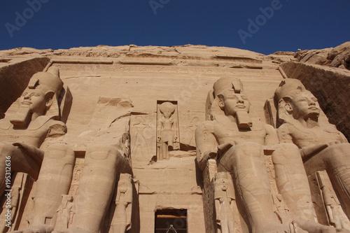 Fényképezés  Entrance to Ramses II, Abu Simbel in Egypt