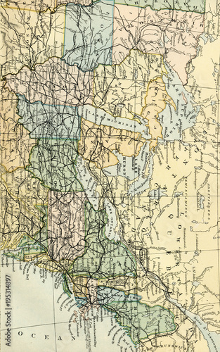 Vintage Map Of The Us Early 1800 United States Maps Buy This - Us-map-in-1800