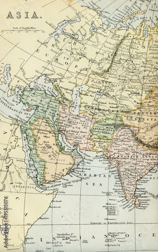 Vintage Map of Asia - Early 1800 World Maps - Buy this stock photo ...