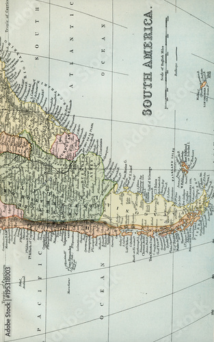 Antique Map of South America - Early 1800 Vintage Maps of ...