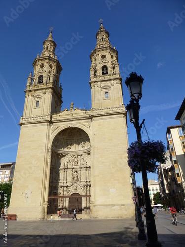 Catedral de Logroño, ciudad capital de la comunidad autónoma de La Rioja (España)
