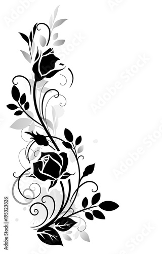 Decorative ornament with rose