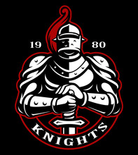 Emblem Of Knight With Sword