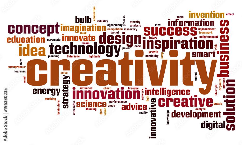 Fototapeta Creativity word cloud