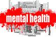 Leinwandbild Motiv Mental health word cloud design