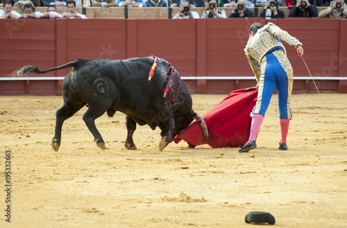 Tuinposter Stierenvechten BULLFIGHT IN SEVILLA, SPAIN