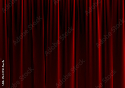 Fotografia, Obraz Red Stage Theater Curtain.3d Rendering