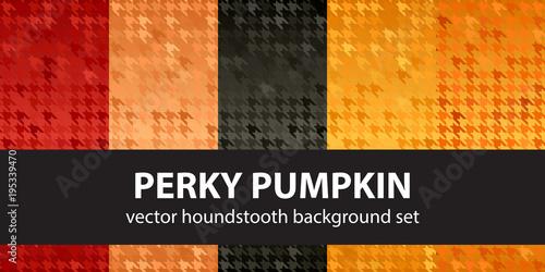 Photo  Houndstooth pattern set Perky Pumpkin