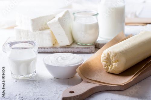 Poster Produit laitier Fresh handmade farm organic dairy products