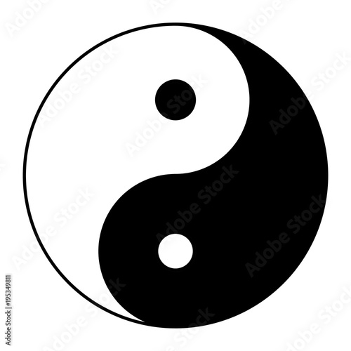 Valokuvatapetti Yin yang symbol of harmony and balance