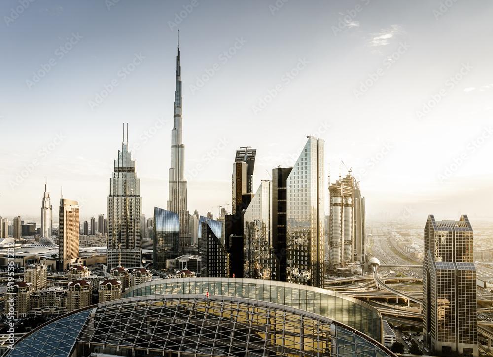 Photo & Art Print Dubai downtown skyline   EuroPosters