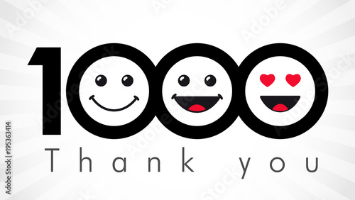 Canvastavla Thank you 1000 followers numbers