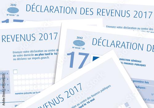 Fotografía  Impôts sur le revenu 2017 - Déclaration papier