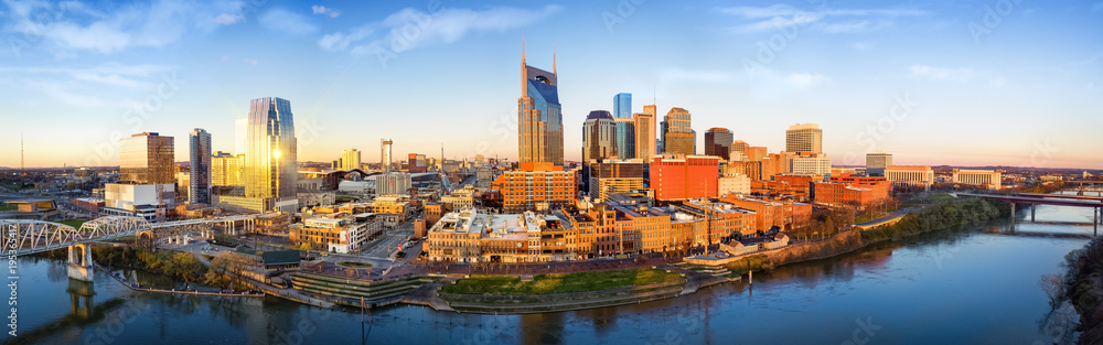 Fototapety, obrazy: Nashville skyline in the morning
