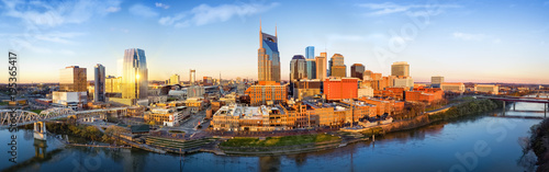 Obraz Nashville skyline in the morning - fototapety do salonu