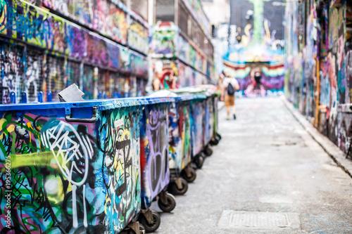 Spoed Foto op Canvas Graffiti collage Graffiti in Melbourne Australia