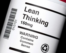 The Popular Business Concept Of Lean Thinking In Tablet Form.