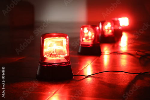 Photo Background with red flashing alarm lights.