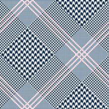 Seamless Glen Plaid Pattern In...