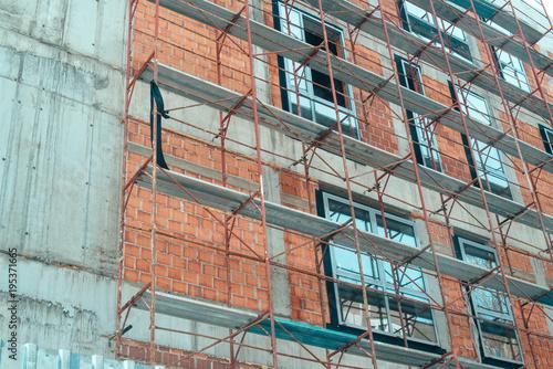 Fototapety, obrazy: Scaffolding on construction site