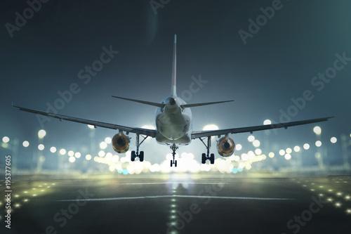 Flugzeug bei der Landung Canvas Print