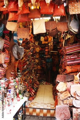 Staande foto Marokko Moroccan souvenir shop
