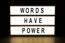 Words Have Power Light Box Sig...