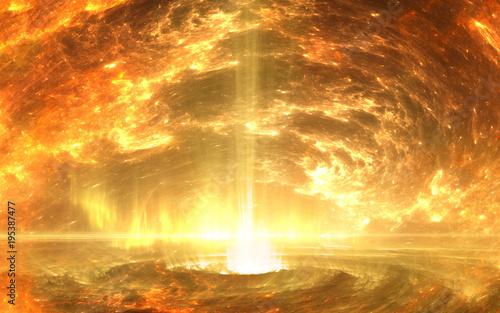 Valokuva  Inner core of earth.