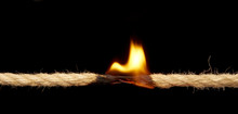Flaming Rope About To Break. I...