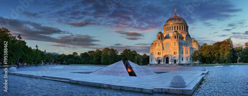 St. Nicholas Naval Cathedral in Kronstadt Canvas Print