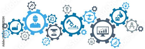 Fotografía Engineering vector: digitalisation, technology, innovation - abstract concept