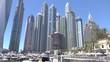 View to the Dubai Marina, UAE.