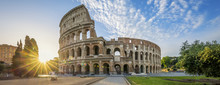 Colosseum In Rome With Morning...