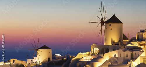 Fotografia, Obraz  Oia village at sunset