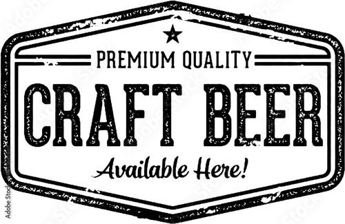Photo Vintage Craft Beer Bar Sign