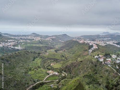 Spoed Foto op Canvas Khaki beautiful air views in Canarian islands