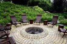 Fire Pit Rustic Backyard Chair
