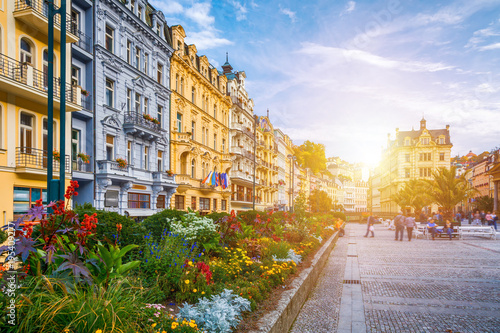 Fotografie, Obraz  Architecture of Karlovy Vary (Karlsbad), Czech Republic