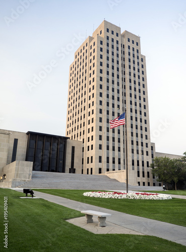 Photo North Dakota State Capital Building Bismarck ND USA