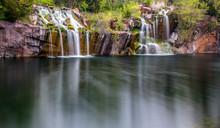 Long Exposure Waterfall Over R...