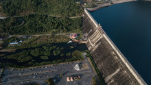 Aerial Photos Of  Large Dam