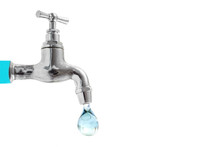 The Faucet And Last Drop Of Wa...
