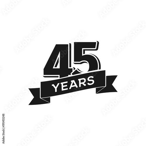 Fotografía  Vector 45 years anniversary logotype