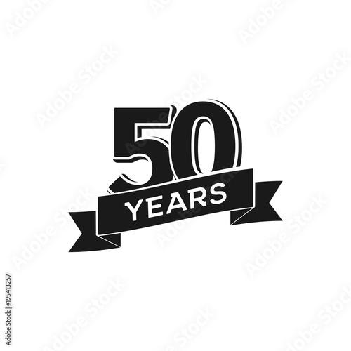 Fotografia  Vector50 years anniversary logotype
