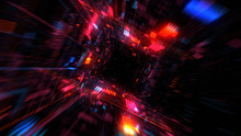 Flight Into Abstract 3D Cosmic...