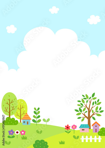 Tuinposter Lichtblauw Natural landscape with cloud and sky background